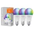SET 3x LED RGB Dimming bulb SMART + E27/9,5W/230V 2700K-6500K wi-fi - Ledvance