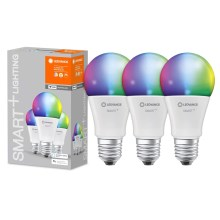 SET 3x LED RGB Dimming SMART + E27/9W/230V 2700K-6500K wi-fi - Ledvance