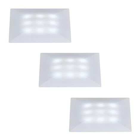 SET 3x plafonieră LED de exterior Paulmann 98862 UPDOWNLIGHT QUADRO 3xLED/1W/230V IP67