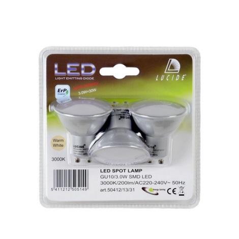 Set 3xBec LED BULB GU10/3W/230V - Lucide 50412/13/31