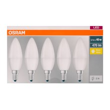 SET 5x Bec LED B40 E14/5,7W/230V 2700K - Osram