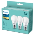 SET Bec 3x LED Philips A60 E27/8W/230V 2700K