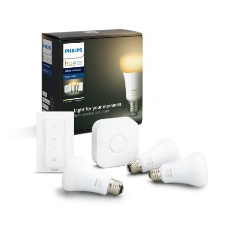 Set de bază Philips 3xE27/8,5W + dispozitiv de interconectare 2200-6500K