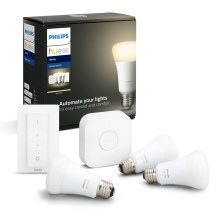 Set de bază Philips HUE STARTER KIT 3xE27/9W + dispozitiv de interconectare 2700K