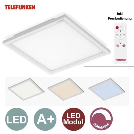 Telefunken by Briloner - LED Panou dimmabil 1xLED/18W/230V + telecomandă