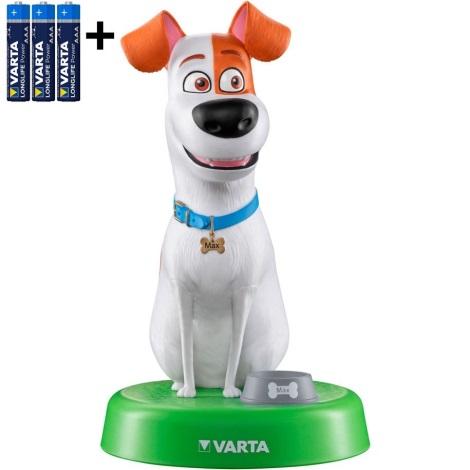 Varta 15641 - LED Childrens lamp THE SECRET LIFE OF PETS LED/3xAAA