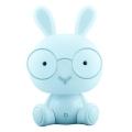 Veioza de noapte LED pentru copii LED/2,5W iepure albastru